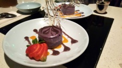 Ube Cheesecake made by Hood Famous Bakeshop in Seattle, Washington.