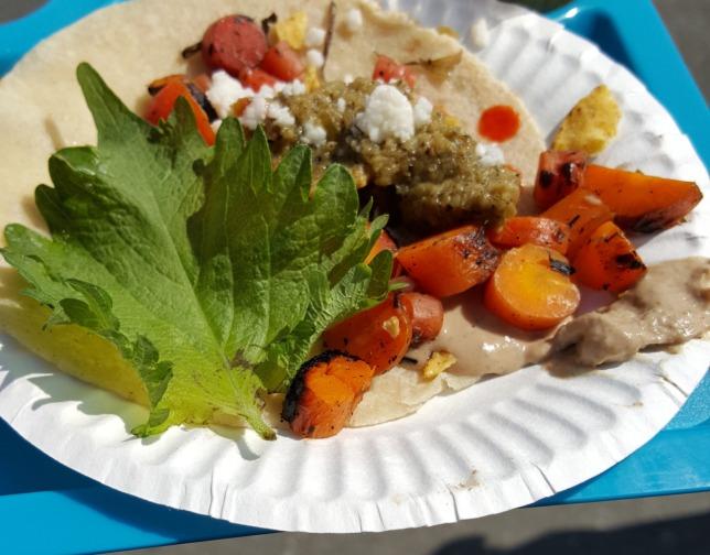A Duck Pate Taco by Corazon De Tierra from Ensenada, Mexico.