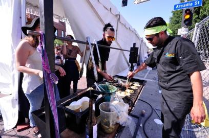 The Chefs from Tacos Kokopelli located in Tijuana, Mexico.