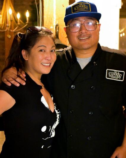 Chef Alex Retodo and friend KImmie Yan.