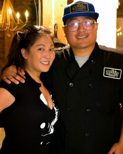 Chef Alex Retodo and friend KImmie Yan.